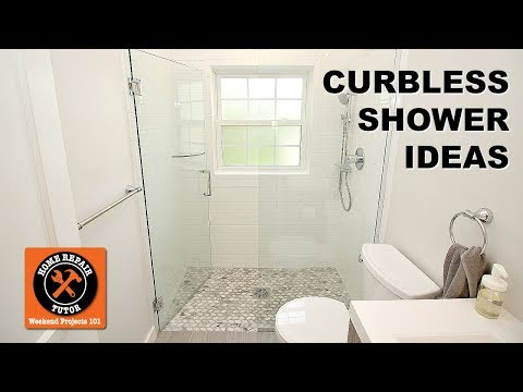 Curbless Shower Installation Tips -- by Home Repair Tutor
