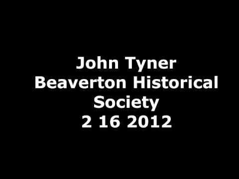 "UntitledAttorney John Tyner presents 'History of Aloha"" 2-16-2012 at Beaverton Historical Society"