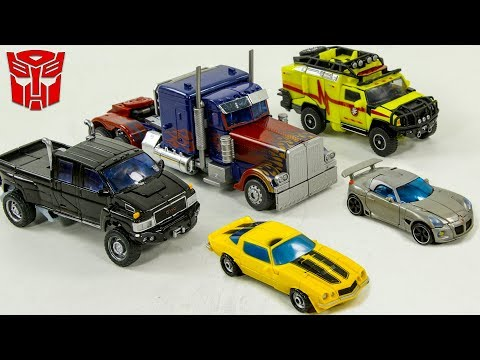 Transformers Autobots Optimus Prime Bumblebee Jazz Ironhide Ratchet 5 vehicle Car Robot Toys