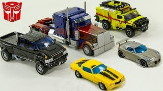 Transformers Autobots Optimus Prime Bumblebee Jazz Ironhide Ratchet 5 vehicle Car Robot Toys