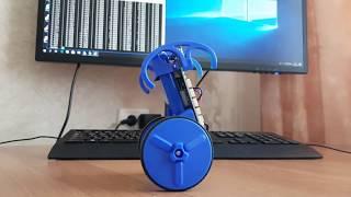 Первый тест самобалансировки робота EduMip