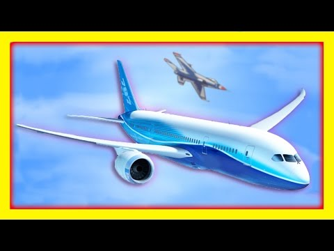 Airplane Videos for Children | Machines for Kids - Compilation FLYING HIGH