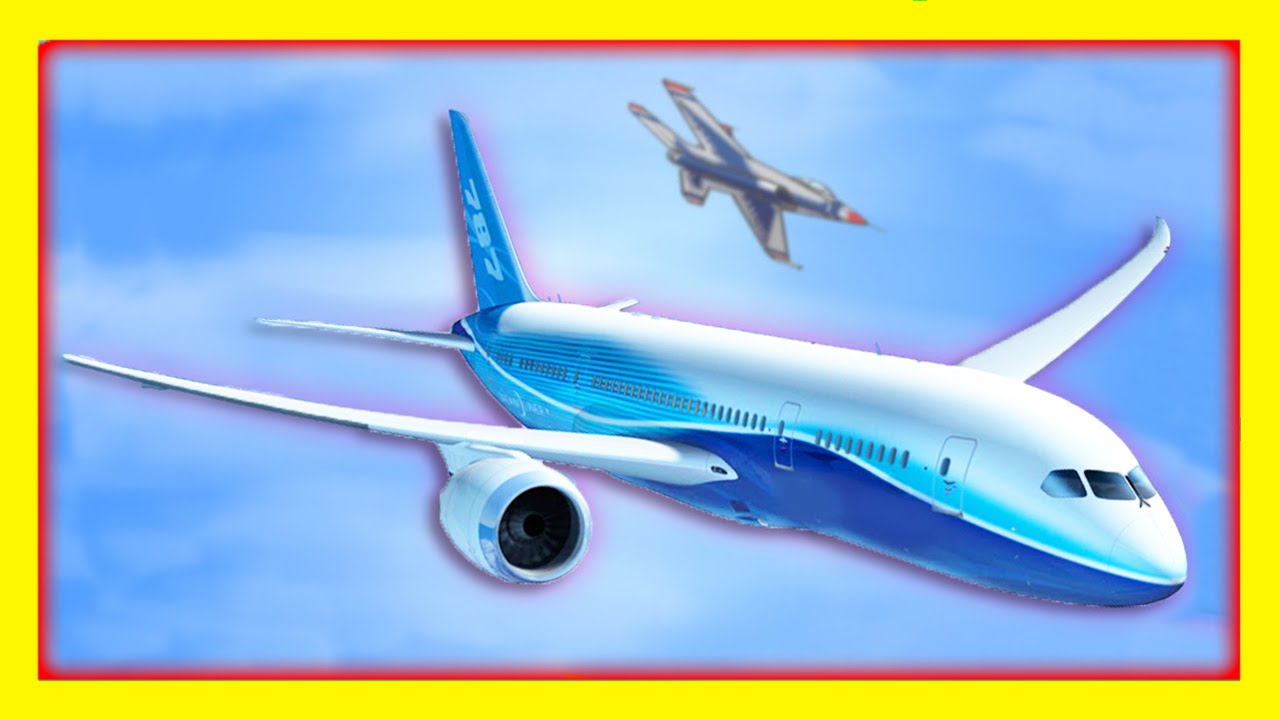airplane videos for children machines for kids compilation flying high