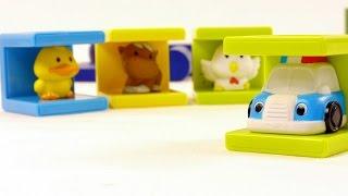 Мультфильм про машинки и животных (развивающие игрушки, видео для детей)