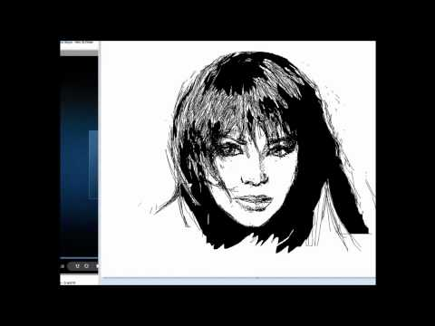 Portrait of Christina Aguilera in Ms Paint Travel Video