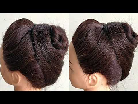 Beautiful Bun Hairstyle For Party For Wedding Party //Function Party || Bun Hairstyle For Saree thumbnail