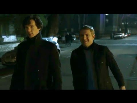 Sherlock and Watson to the crime scene | A Study in Pink