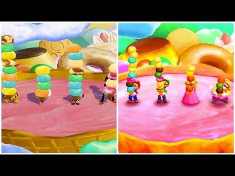 Mario Party: The Top 100 vs. Mario Party 5 - All Mini-Games Comparison (GCN vs. 3DS)