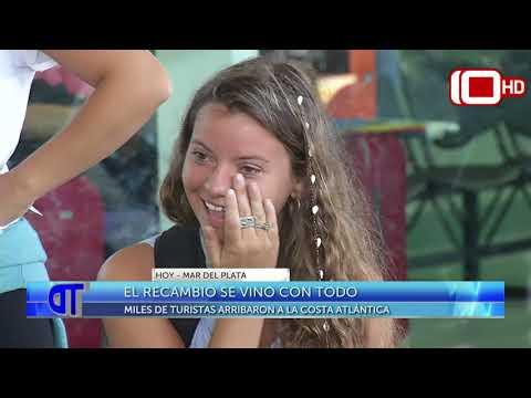 El recambio se vino con todo: miles de turistas arribaron a Mar del Plata