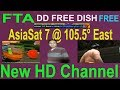 DD FREE DISH ASIASAT7 105E CBAND ADD NEW CHANNEL JCTV SPORTS CARTOON AND MOOR