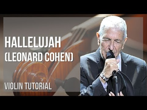 How to play Hallelujah by Leonard Cohen on Violin (Tutorial)