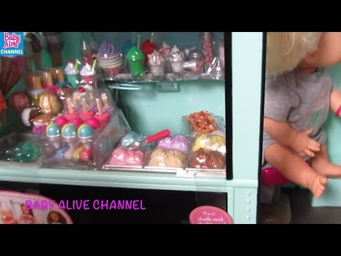 BABY ALIVE Our Generation Sweet Stop Ice Cream Truck Unboxing + Review! By BABY ALIVE CHANNEL