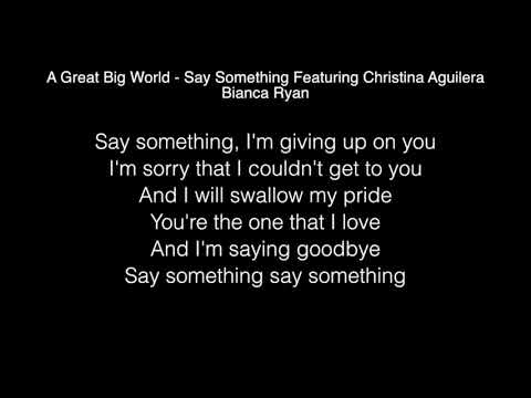 Bianca Ryan - Say Something Lyrics ( America's Got Talent: The Champions )