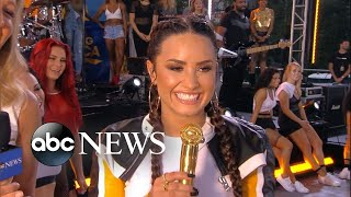 Catching up with Demi Lovato live on 'GMA'
