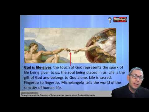 14 Creation Of Adam Painting
