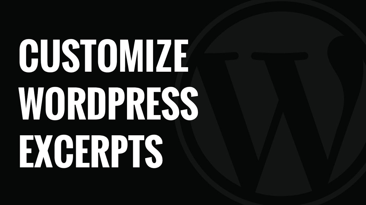 Download How to Customize WordPress Excerpts No Coding Required