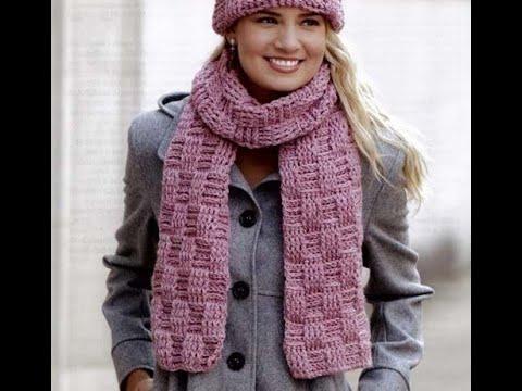Зимний шарф крючком для девочки