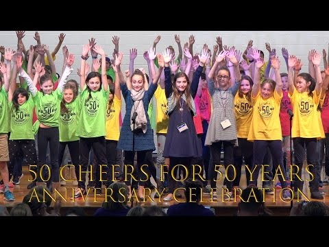 50 Cheers for 50 Years Anniversary Celebration, Lincoln Avenue Elementary School (4k video)