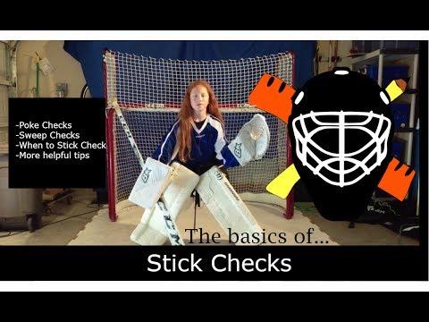 Goalie Stick Checks (Poke Checks and Sweep Checks) | The basics of... | Ice hockey goalie tutorial