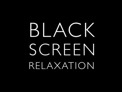 4K - Black Screen, Eye of Tropical Storm Rain Wind - High Quality Recording - 1 hour