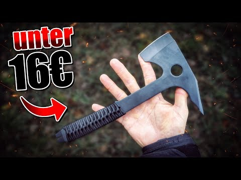 Die GÜNSTIGSTE Wurfaxt auf Amazon - Tactical Tomahawk Outdoor Ausrüstung | Fritz Meinecke - Gear