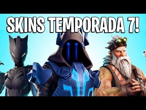 FORTNITE - VAZOU SKINS DO PASSE DE BATALHA DA TEMPORADA 7!
