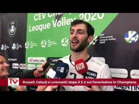 Russell, Cebulj e Lorenzetti dopo il 3-2 in rimonta sul Fenerbahce