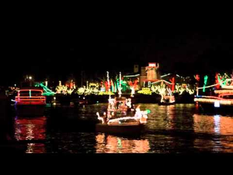 Newport Beach 2011 Annual Christmas Boat Parade YouTube