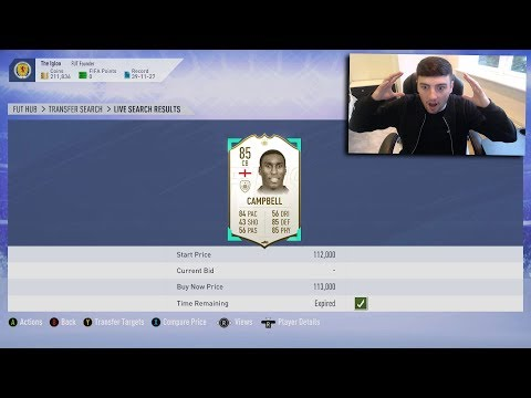 FIFA 19  *MIN PRICE* ICON SNIPE  450K PROFIT IN 1 SNIPE  SNIPING REACTIONS EP3