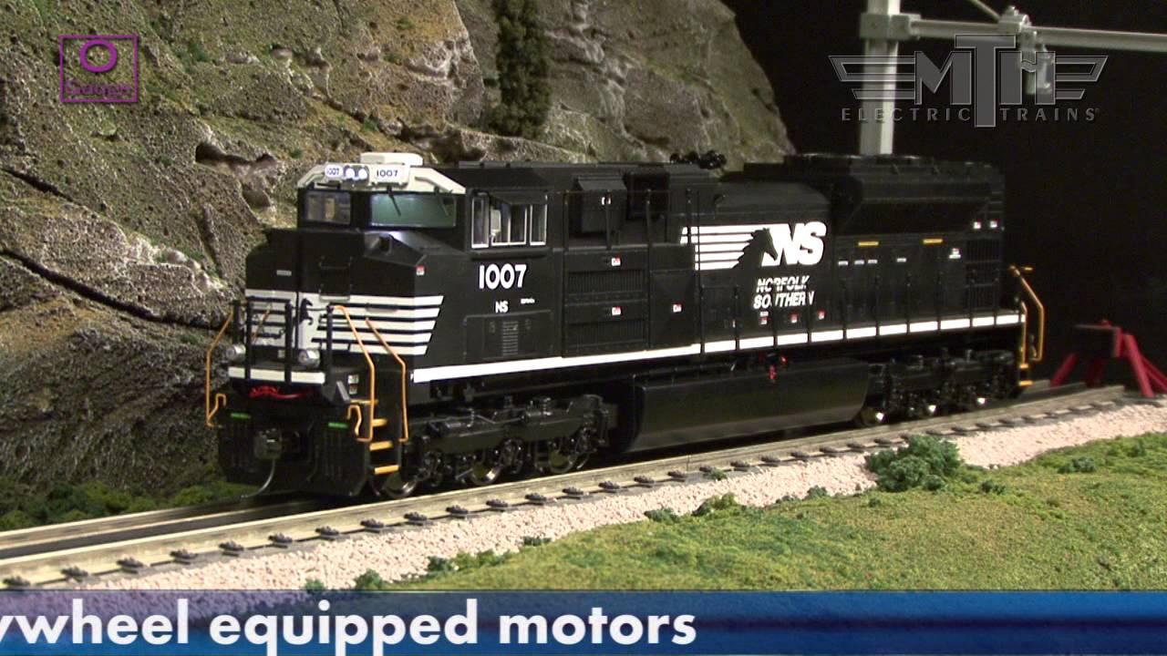 Electro Motive Diesel >> MTH Premier Line O Scale SD70ACe Diesel Locomotive.mpg ...