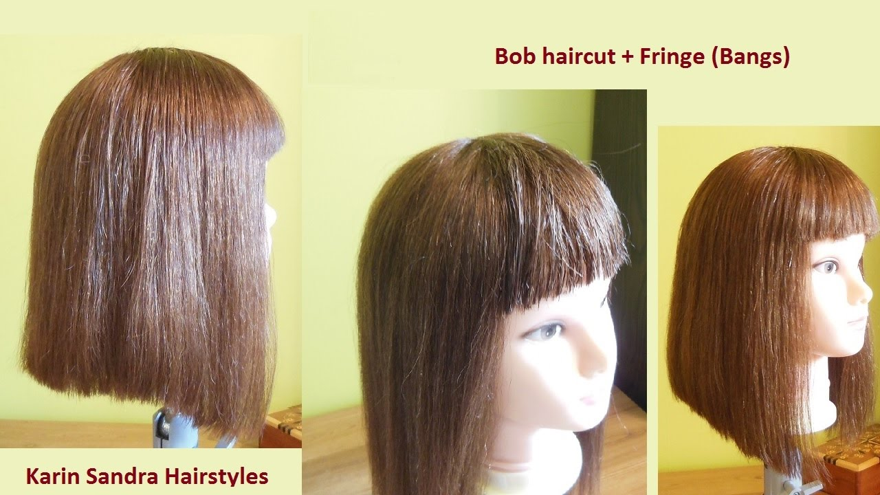 Bob Haircut Tutorial Without Graduation With Bangs Easy Long Bob