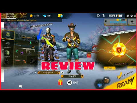 OB12 Winter Update Review - New Attachment Stock Grip? | Free Fire Battlegrounds