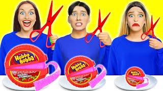 ¡EL DESAFÍO DE COMIDA GIGANTE VS. PEQUEÑA!   Desafíos de comida divertidos por Multi DO Challenge