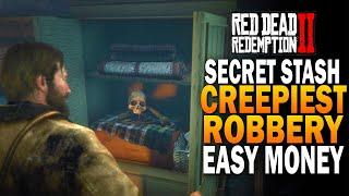 Secret Money Stash! The Creepiest Encounter In RDR2!  Red Dead Redemption 2 Secrets