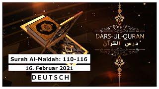 Dars-ul-Quran - Live   Deutsch - 17.02.2021