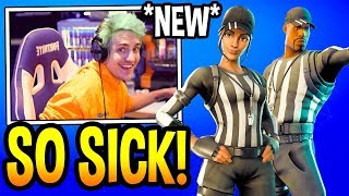 "NINJA REACTS TO *NEW* ""REFEREE"" SKINS! Fortnite EPIC & FUNNY Moments"