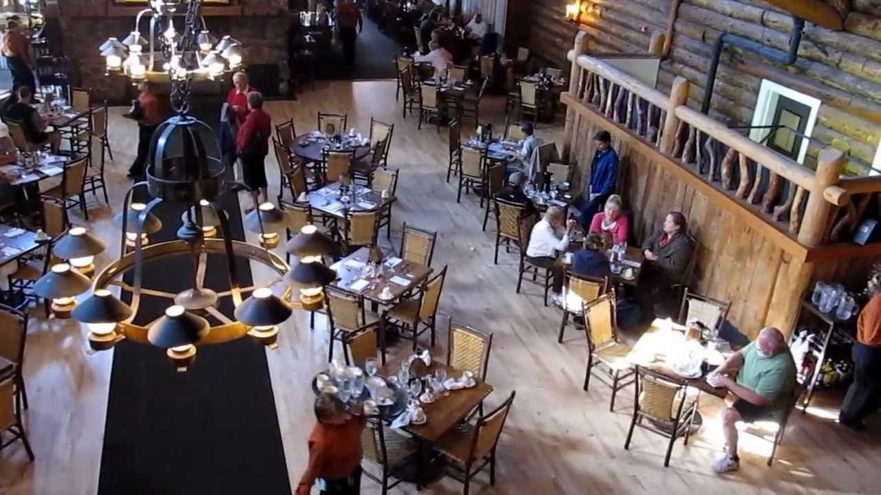 old faithful inn dining room - yellowstone national park - youtube