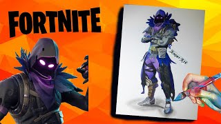 SKIN DRAWING OF THE BODY ? FORTNITE ? DRAWING FORTNITE CHARACTERS RAVEN