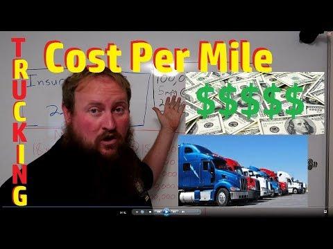 Cost Per Mile TRUCKING.....