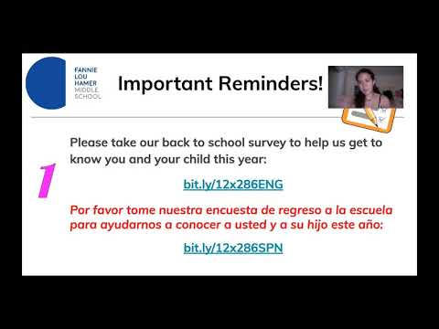 Video Informativo para las Familias de Fannie Lou Hamer Middle School