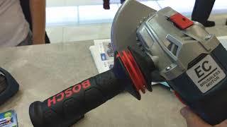 Nova Esmerilhadeira a bateria Bosch GWS 125C 18v volts