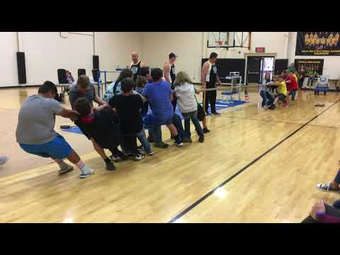 Omega Force Team at McKell Middle School, students Tug of War