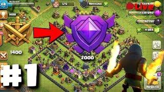 Dalla Lega Oro alla Lega Cristallo, 600 coppe in una Live è possibile? - Clash Of Clans