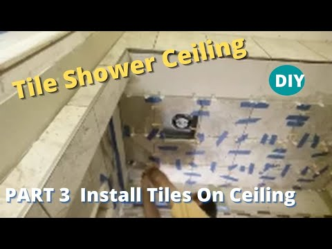 How to tile a shower ceiling part 3 installing the tiles on a how to tile a shower ceiling part 3 installing the tiles on a ceiling ppazfo
