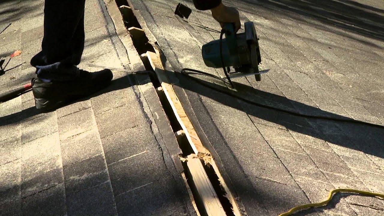Proper Roof Vent Installation : Roof saver ridge vent youtube