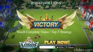 Lords Mobile  Use Top 3 Strategy In Lords Mobile Android Andamp Ios Gameplay