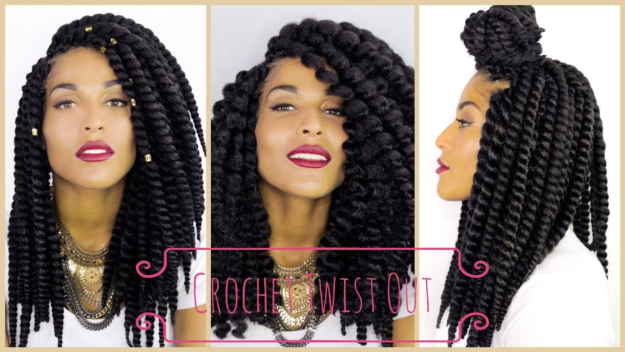 How To Get A Twist Out With Havana Twist Crochet Braids Youtube