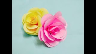 How To Make Paper ROSE Step By Step At Home | Make ROSE With Paper