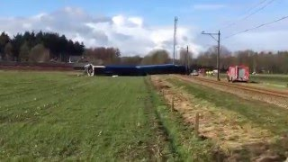 Passenger train derailed near the town of Dalfsen, some 120 kilometres east of Amsterdam.