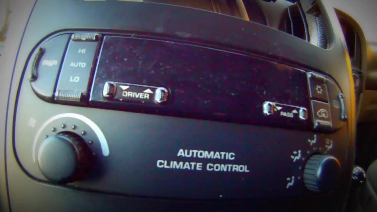 Градусник климата контроля Chrysler voyager